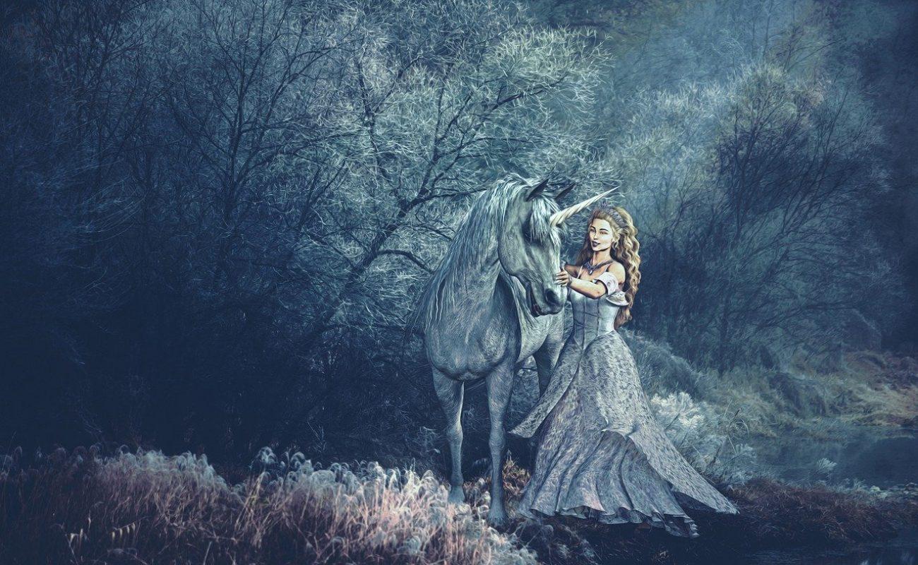 unicorn, princess, fantasy